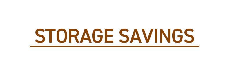 STOTRAGE SAVINGS