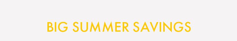 BIG SUMMER SAVINGS